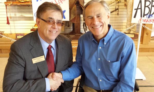 Governor Greg Abbott and myself on the campaign trail