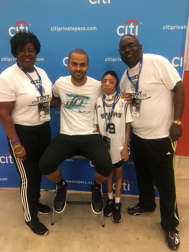 Day with Tony Parker at his Basketball camp.