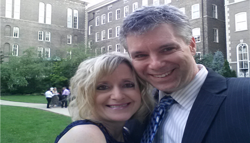 My wife and I attending the wedding of our friend, John Ciciora.
