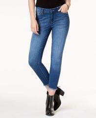 Image of Celebrity Pink Juniors' Raw-Hem Skinny Jeans