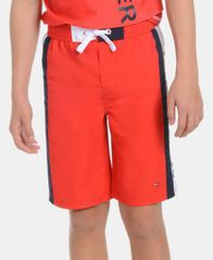 Image of Tommy Hilfiger Big Boys Side Stripe Swimsuit