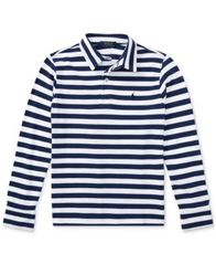 Image of Ralph Lauren Striped Long-Sleeve Cotton Polo, Big Boys (8-20)