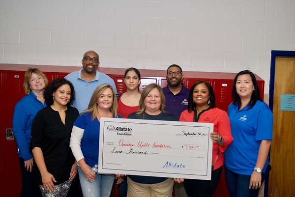 Wendy Moore - Allstate Foundation Grant for the Operation Uplift Foundation