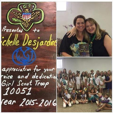 Michelle Priestman Desjardins - Proud to present Allstate $1,000 Good Hands Community Grant to GIrl Scout Troop 10051!