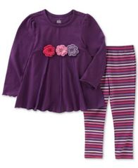 Image of Kids Headquarters 2-Pc. Tunic & Striped Leggings Set, Toddler Girls (2T-5T)