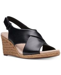 Image of Clarks Collection Women's Lafely Alaine Wedge Sandals, Created For Macy's