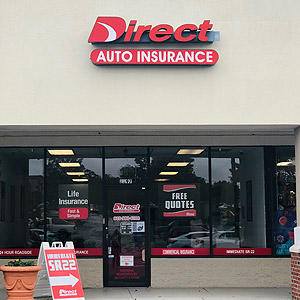 Front of Direct Auto store at 2397 Cherry Road, Rock Hill