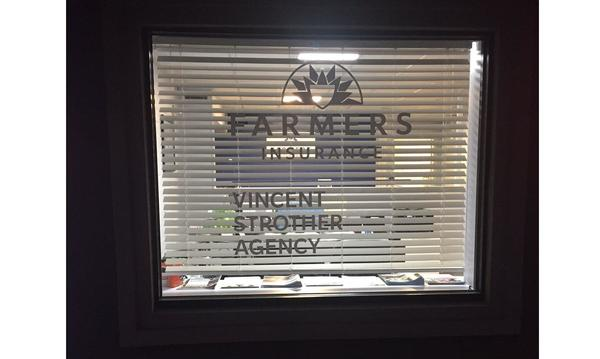 A window display at the agency