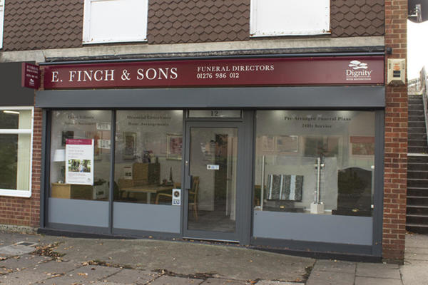 E Finch & Sons Funeral Directors in Blackwater, Camberley