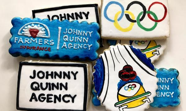 Cookies featuring the Olympic logo
