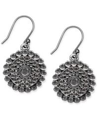 Image of Lucky Brand Silver-Tone Tribal Drop Earrings