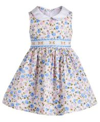 Image of Bonnie Baby Baby Girls Ditsy Floral-Print Dress, Created for Macy's