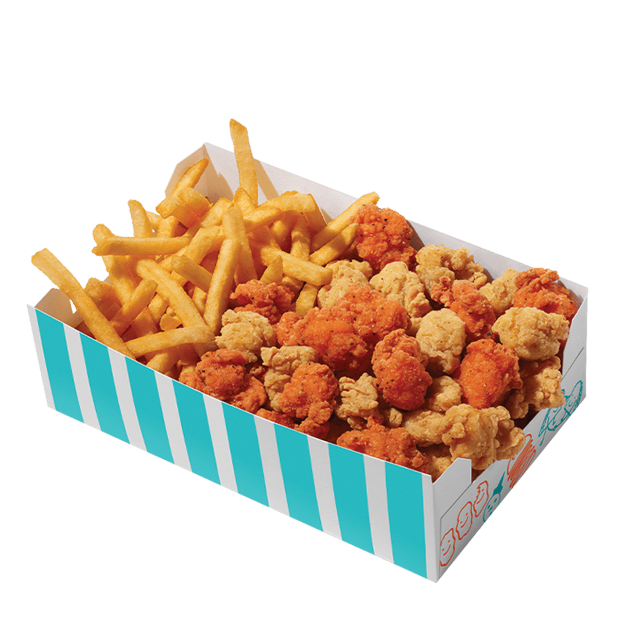 50 / 50 Popcorn Chicken Big Box