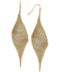 Image of I.N.C. Mesh Drop Earrings, Created for Macy's