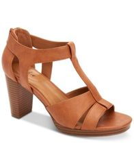 Image of Style & Co Ophelia Block-Heel Cutout Sandals, Created for Macy's