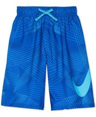 "Image of Nike Printed 8"" Volley Swim Trunks, Little Boys & Big Boys"
