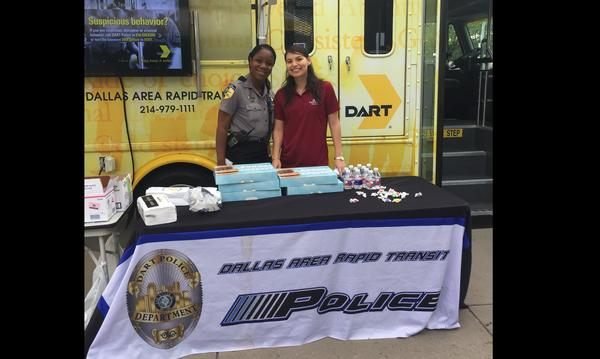 Partnering with the local DART police officers.