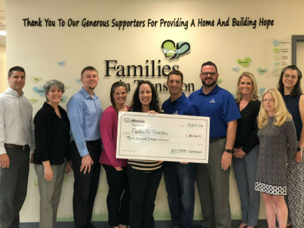 Corinne Crosby - Families in Transition Receives Allstate Foundation Helping Hands Grant