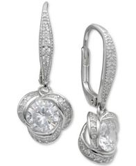 Image of Giani Bernini Cubic Zirconia Love Knot Drop Earrings, Created for Macy's