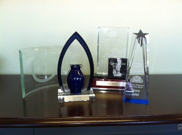 Some of our awards from Farmers for Sales and Service