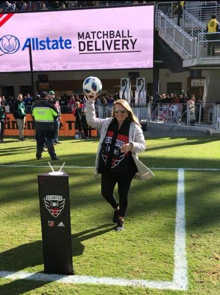 Marcy Obenchain - Fun and Futbol with DC United