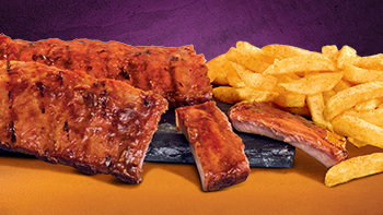 Steer's famous ribs with chips