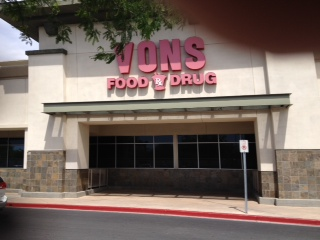 Vons Store Front Picture at 6450 Sky Pointe Dr in Las Vegas NV