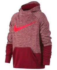 Image of Nike Big Boys Therma Logo-Print Training Hoodie