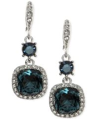 Image of Givenchy Cushion-Stone and Crystal Drop Earrings