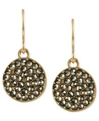 Image of Kenneth Cole New York Earrings, Glass Crystal Circle Drop Earrings