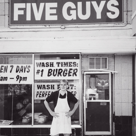 Le premier restaurant Five Guys en 1986