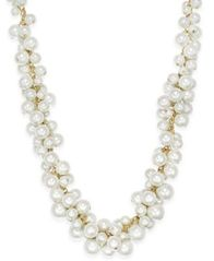 Image of Charter Club Gold-Tone Imitation Pearl Cluster Necklace, Created for Macy's