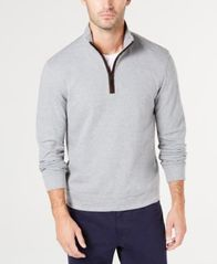 Image of Tasso Elba Men's Piped 1/4-Zip Sweater, Created for Macy's