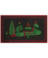 Image of Nourison Holiday Tree 18 in. x 30 in. Accent Rug