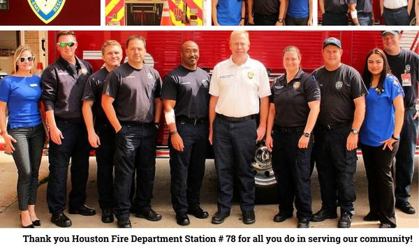 Gathering The Houston Fire Department Station #78 with BBQ for Lunch!