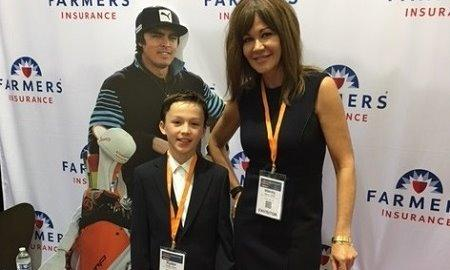 Stacey and her son at the NW Foodservice show