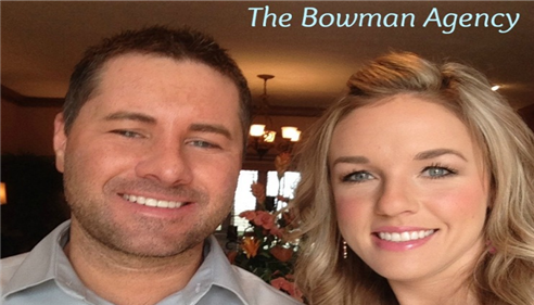 Dustin & Jess Bowman, here to help with your insurance needs!