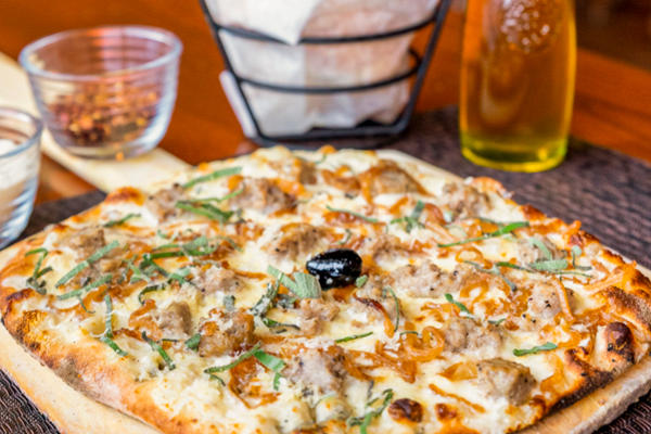 January's Pizza of the Month - Sausage Bianca