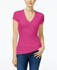 Image of INC International Concepts Ribbed V-Neck Top, Created for Macy's