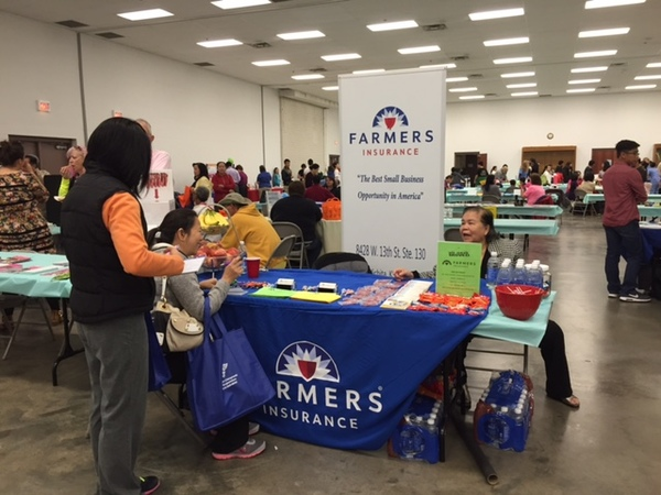 Farmers Agency booth at Asian Wellness Day event 2015