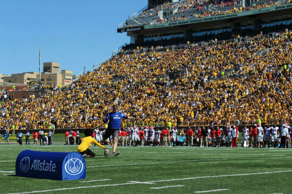 Lynn Wobig - Allstate Field Goal Net Challenge at University of Missouri