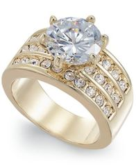 Image of Charter Club Gold-Tone Crystal Triple-Row Ring, Created for Macy's