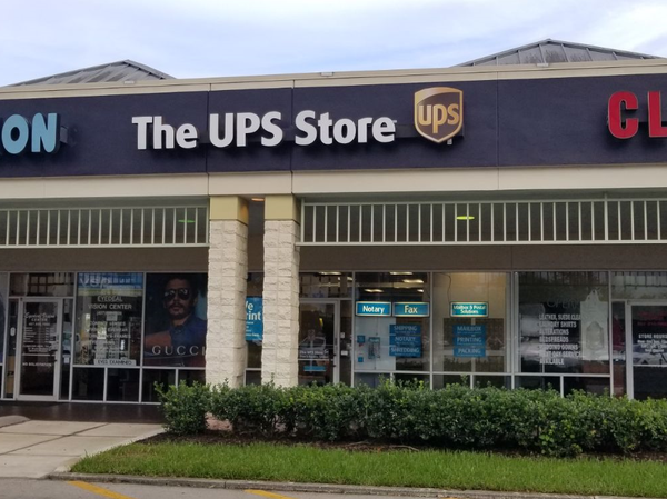 front of the ups store at 3956 Town Center Blvd