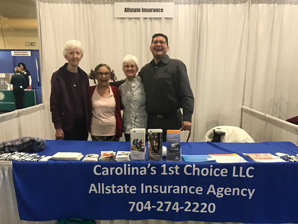 Agency owner Christian Gallardo with attendees of the 2018 Senior Health and Wellness Expo