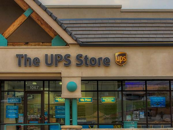 Facade of The UPS Store Woodland Park