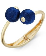 Image of INC International Concepts Gold-Tone Thread-Wrapped Ball Bypass Bracelet, Created for Macy's