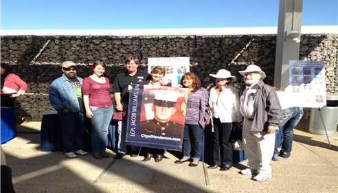 I sponsored Jake William's military poster on Water St & presented it to his family.