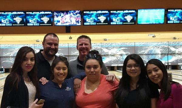 Taking the team bowling to celebrate a job well done!