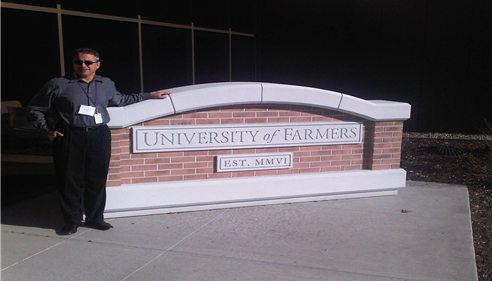 At the University of Farmers!