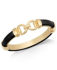 Image of Charter Club Gold-Tone Faux Leather Interlock Bracelet, Created for Macy's